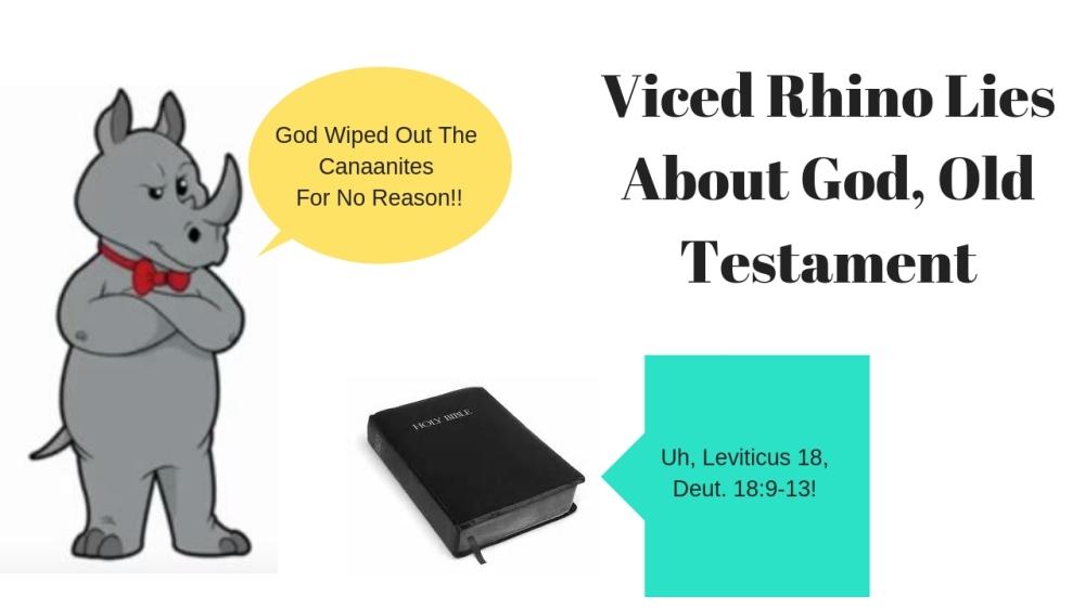 Viced Rhino Lies About God